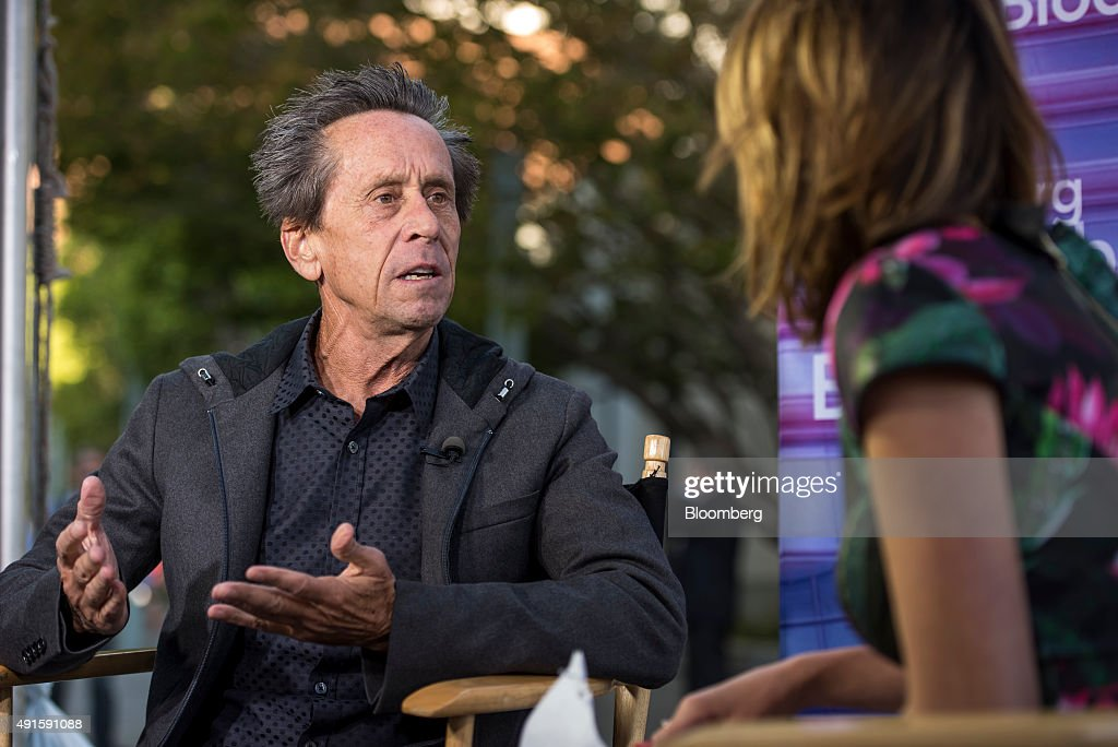 Brian Grazer, co-chairman of Imagine Entertainment, left, speaks during a Bloomberg Television interview at the Vanity Fair 2015 New Establishment Summit in San Francisco, California, U.S., on Tuesday, Oct. 6, 2015. The summit assembles titans of technology, politics, business, and media for inventive programming and inspiring conversations around the ideas and innovations shaping the future. Photographer: David Paul Morris/Bloomberg via Getty Images