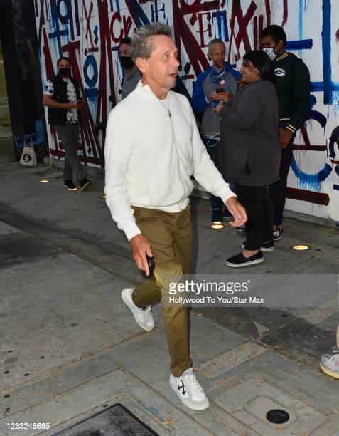 Brian Grazer is seen on June 2, 2021 in Los Angeles, California.
