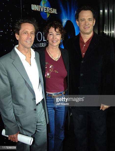 Brian Grazer Kathleen Quinlan and Tom Hanks during Apollo 13 Anniversary Edition DVD Launch Press Line at California Science Center in Los Angeles...