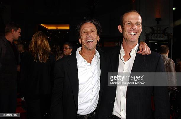 """Brian Grazer, producer and Peter Berg, director during """"Friday Night Lights"""" Los Angeles Premiere - Red Carpet at Grauman's Chinese Theatre in Los..."""