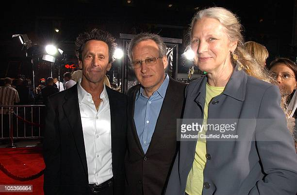 Brian Grazer, producer with Michael Mann and wife Summer Mann