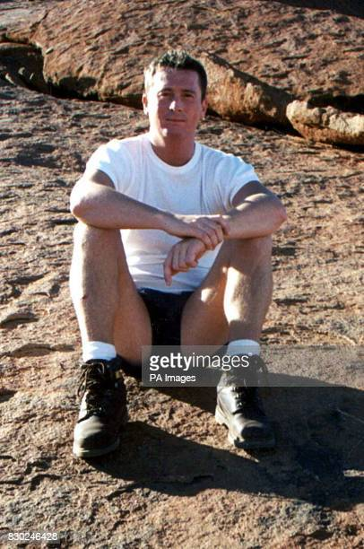 Brian Hagland from London who was beaten to death at Sydney's Bondi Beach 24/9/96 Mourners gathered at his funeral to pay their respects 14/9/99 His...