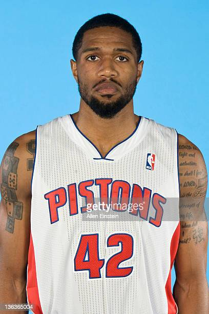 Brian Hamilton of the Detroit Pistons poses for a portrait during media day at The Palace of Auburn Hills on December 14 2011 in Auburn Hills...