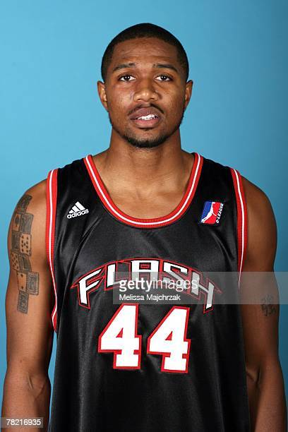Brian Hamilton of the Utah Flash poses for a portrait during DLeaque media day on November 13 2007 at the Open Court in Lehi Utah NOTE TO USER User...
