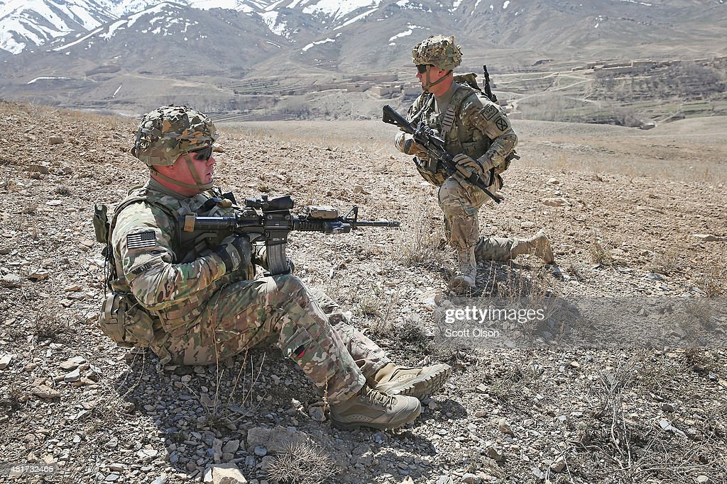 U.S. Soldiers Continue Patrols Outside FOB Shank In Afghanistan : News Photo