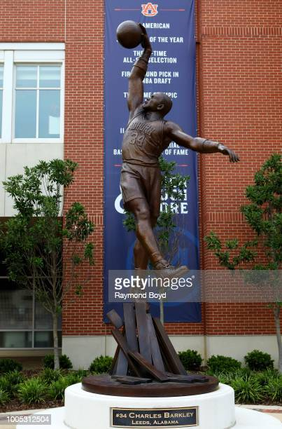 Brian Hanlon's statue of former Auburn Tigers basketball player Charles Barkley stands outside Auburn Arena home of the Auburn Tigers basketball team...
