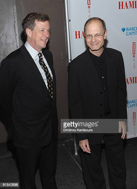 Brian Hargrove and actor David Hyde Pierce attend the Broadway opening night of Hamlet at the Broadhurst Theatre on October 6 2009 in New York City
