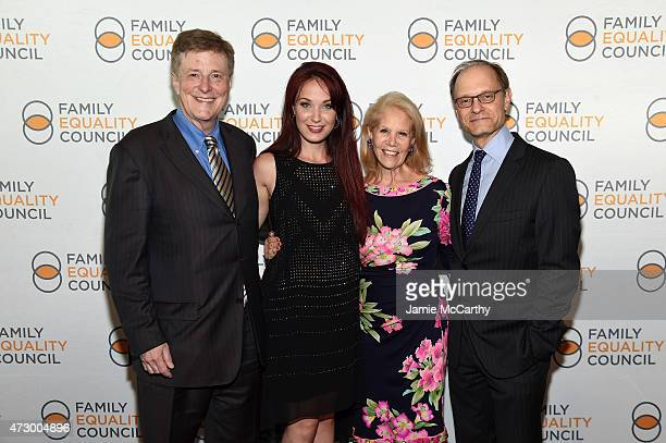 Brian Hargrove Sierra Boggess Daryl Roth and David Hyde Pierce attend the Family Equality Council's 2015 Night At The Pier at Pier 60 on May 11 2015...