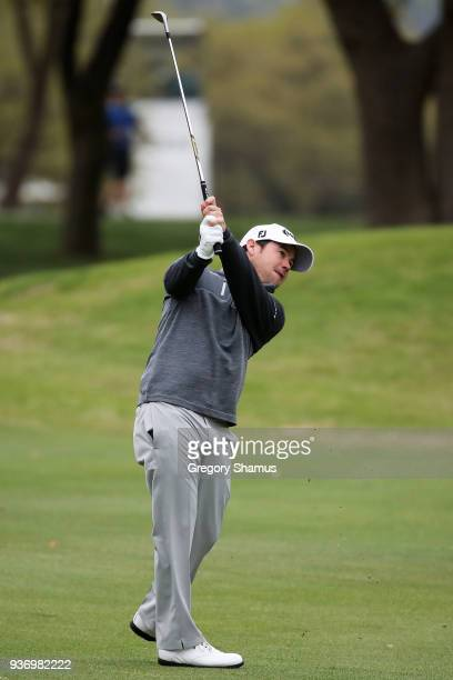 Brian Harman of the United States plays a shot on the second hole during the third round of the World Golf ChampionshipsDell Match Play at Austin...