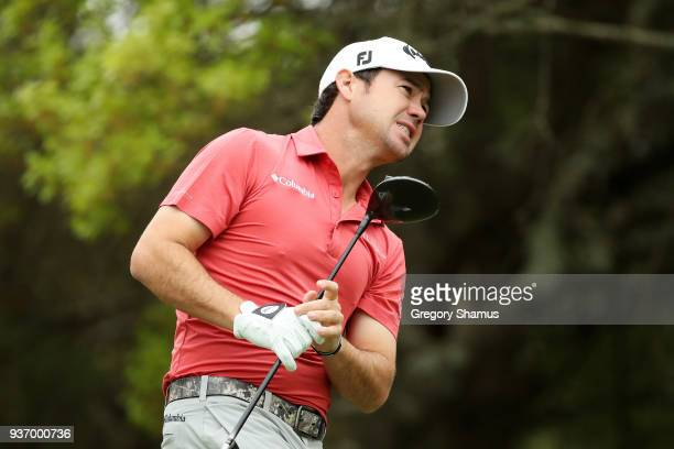 Brian Harman of the United States plays his shot from the fifth tee during the third round of the World Golf ChampionshipsDell Match Play at Austin...