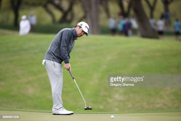 Brian Harman of the United States putts on the second green during the third round of the World Golf ChampionshipsDell Match Play at Austin Country...