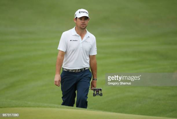 Brian Harman of the United States walks on the fifth hole during the fourth round of the World Golf ChampionshipsDell Match Play at Austin Country...