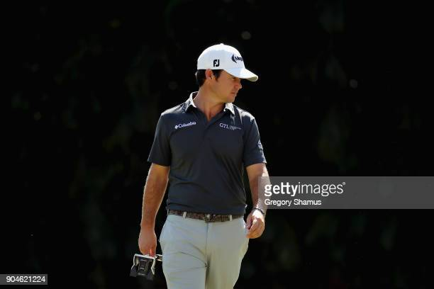 Brian Harman of the United States walks on the first hole during round three of the Sony Open In Hawaii at Waialae Country Club on January 13 2018 in...