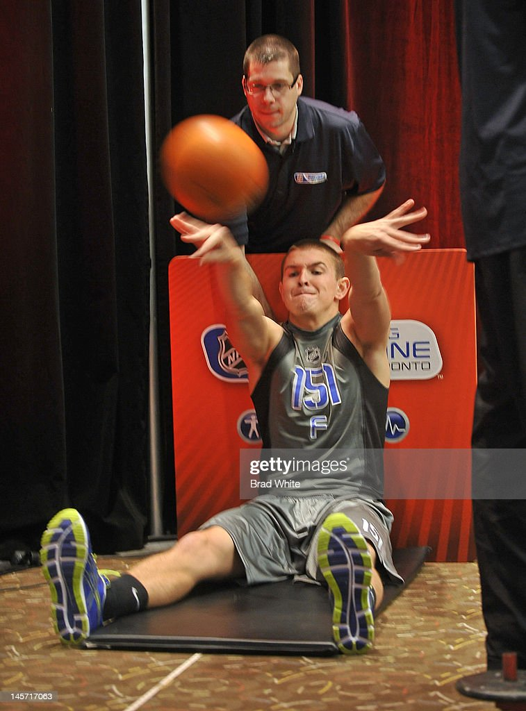 Brian Hart #151 takes part in the 2012 NHL Combine June 1, 2012 at International Centre in Toronto, Ontario, Canada.