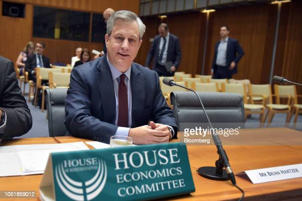 Brian Hartzer chief executive officer of Westpac Banking Corp looks on ahead of a hearing before the House of Representatives economics committee in...
