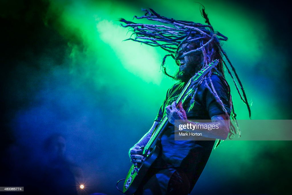 Brian 'Head' Welch of Korn performs on Day 1 of the Heavy Montreal Festival at Parc Jean-Drapeau on August 7, 2015 in Montreal, Canada.