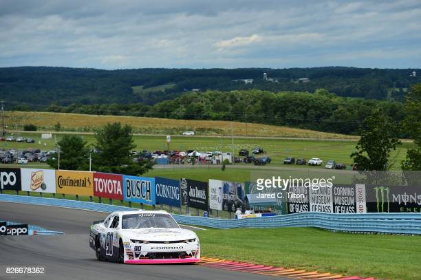 Brian Henderson driver of the BDL Motorsports Chevrolet drives during qualifying for the NASCAR XFINITY Series Zippo 200 at The Glen at Watkins Glen...