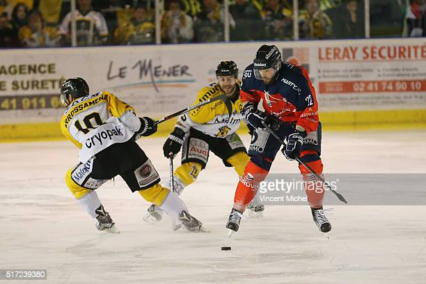 Brian Henderson of Angers during the Ice hockey Ligue Magnus Final second game between Les Ducs d'Angers v Les Dragons de Rouen on March 23 2016 in...