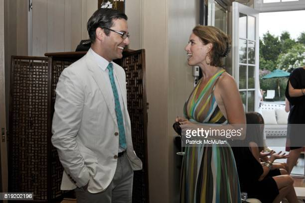 Brian Henke and Alexis Glick attend Jimmy Choo and Allison Lutnick event supporting the Cantor Fitgerald Relief Fund at Bridge Hampton on July 29 2010