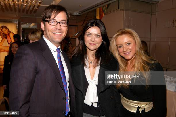 Brian Henke Filipa Fino and Caroline Berthet attend Jimmy Choo and Vogue Celebrate the Launch of Project PEP at Jimmy Choo on November 4 2009 in New...
