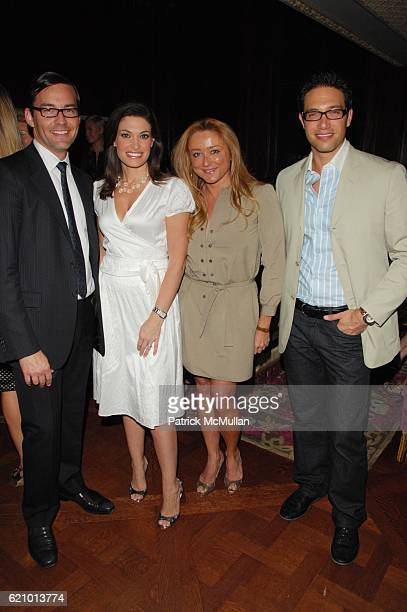 Brian Henke Kimberly Guilfoyle Villency Caroline Berthet and Eric Villency attend JIMMY CHOO Cocktail Party at Rose Club at the Plaza NYC on August 6...
