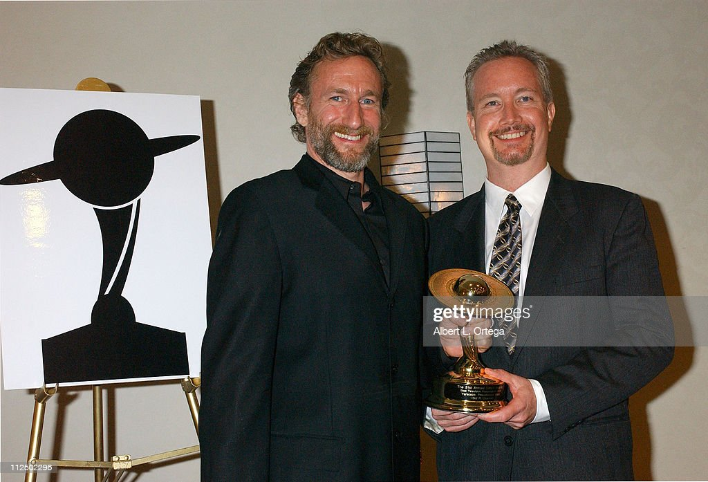 Brian Henson and Rockne S. O'Bannon, winners for Best Television Presentation for 'Farscape: Peacekeeper Wars'