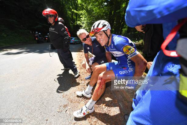 Brian Holm of Denmark Sports Director and Team Quick-Step Floors / Philippe Gilbert of Belgium and Team Quick-Step Floors / Crash / Injury / during...