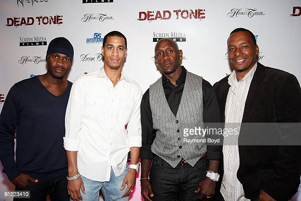 Brian Hooks Jannero Pargo Bobby Jackson and Deon Taylor poses on the red carpet at the Dead Tone movie premiere at Chatham's ICE Theaters in Chicago...