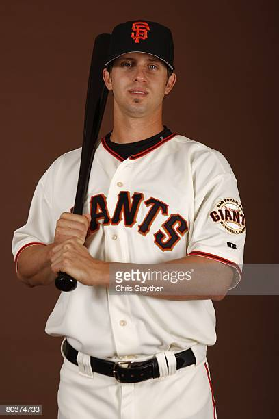 Brian Horwitz of the San Francisco Giants poses for a photo during Spring Training Photo Day at Scottsdale Stadium in Scottsdale Arizona