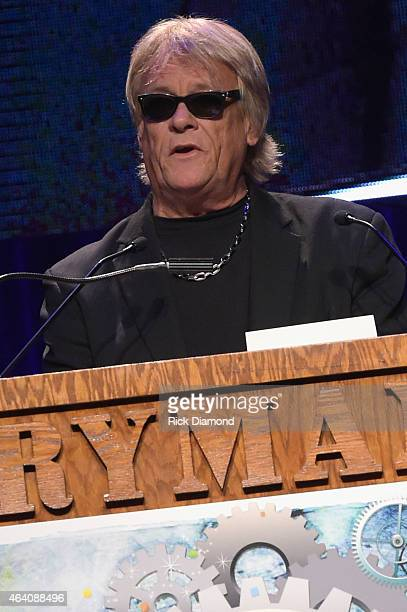 Brian Howe of Bad Company presents the award for Comedy Tour of the Year at the 26th Annual Pollstar Awards at Ryman Auditorium on February 21 2015...
