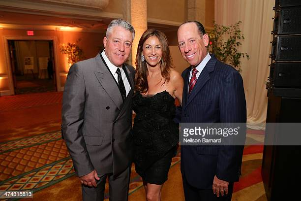 Brian Howlen Arlene Chaplin and Wayne Chaplin attend the tribute dinner honoring Danny Meyer and Chuck Wagner with master of ceremonies Jonathan...