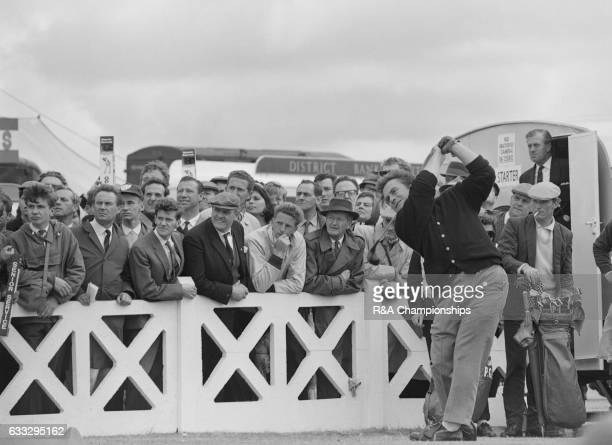 Brian Huggett of Wales plays a shot during the 1965 Open Championship at Royal Birkdale Golf Club Liverpool England