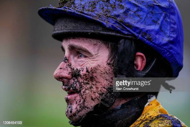 Brian Hughes poses at Ascot Racecourse on February 15 2020 in Ascot England