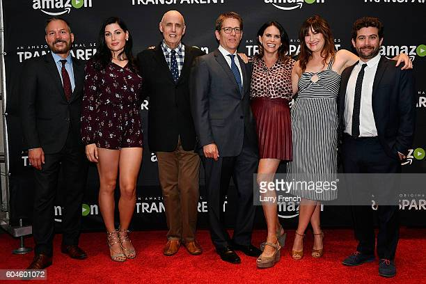 "Brian Huseman, Trace Lysette, Jeffrey Tambor, Jay Carney, Amy Landecker, Kathryn Hahn, and Joe Lewis attend the Amazon ""Transparent"" Screening on..."