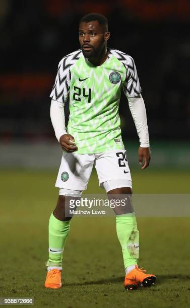 Brian Idowu of Nigeria in action during the International Friendly match between Nigeria and Serbia at The Hive on March 27 2018 in Barnet England