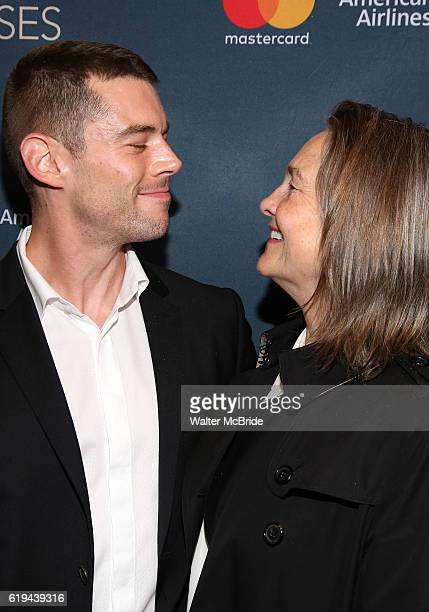 Brian J Smith and Cherry Jones attend the Broadway Opening Night Performance of 'Les Liaisons Dangereuses' at The Booth Theatre on October 30 2016 in...