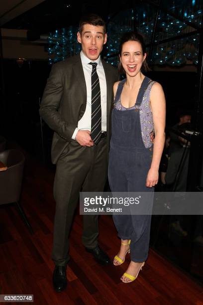 """Brian J Smith and Kate O'Flynn arrive at the afterparty at DSTRKT following the press night performance of """"The Glass Menagerie"""" at The Duke Of York..."""