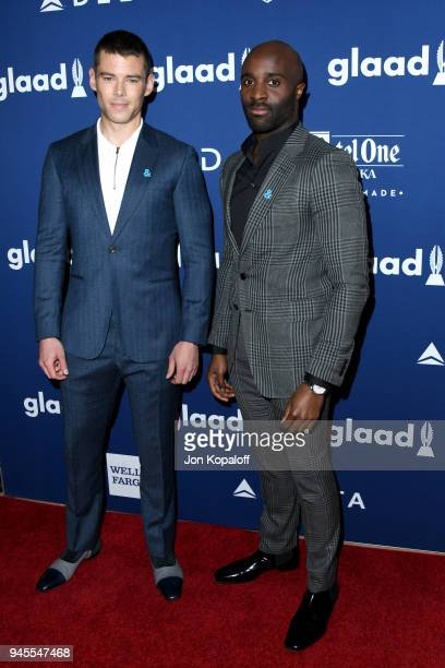 Brian J Smith and Toby Onwumere attend the 29th Annual GLAAD Media Awards at The Beverly Hilton Hotel on April 12 2018 in Beverly Hills California