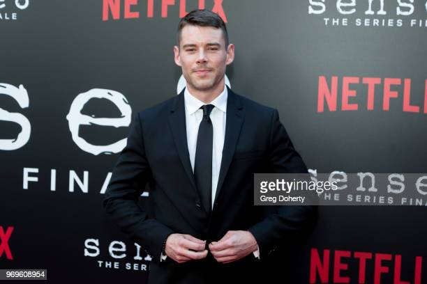 Brian J Smith attends Netflix's Sense8 Series Finale Fan Screening at ArcLight Hollywood on June 7 2018 in Hollywood California