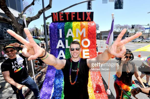 Brian J Smith is seen on the Netflix original series Sense8 float at the Los Angeles Pride Parade on June 10 2018 in West Hollywood California