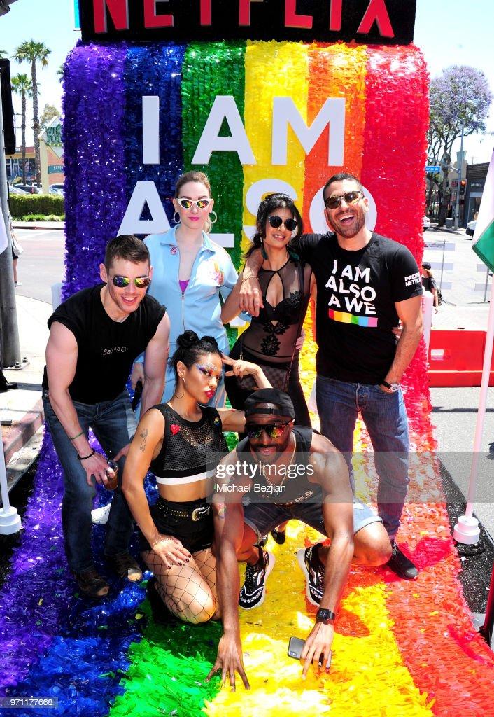 "Netflix Original Series ""Sense8"" Cast At Los Angeles Pride Parade : News Photo"