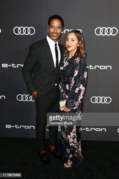 Brian J White and Paula Da Silva are seen as Audi celebrates the 71st Emmys at Sunset Tower on September 19 2019 in Los Angeles California