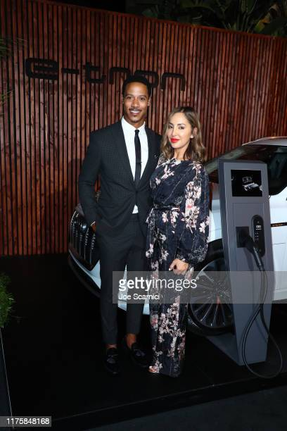 Brian J White and Paula Da Silva attend the Audi preEmmy celebration at Sunset Tower in Hollywood on Thursday September 19 2019