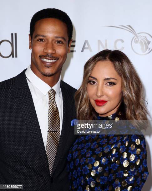Brian J White and Paula Da Silva attend the GEANCO Foundation Hollywood Gala at SLS Hotel on October 10 2019 in Beverly Hills California