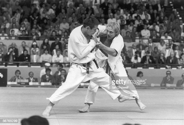 Brian Jacks of Great Britain in action against Oh SeungLip of Korea in the Middleweight judo event at the Munich Olympics 3rd September 1972