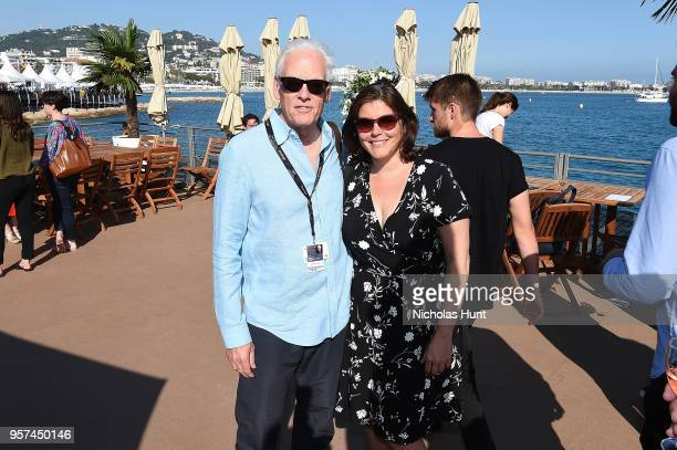 Brian Johnson and Andrea Grau attend the TIFF OMDC cocktail event at the Cannes Film Festival on May 11 2018 in Cannes France