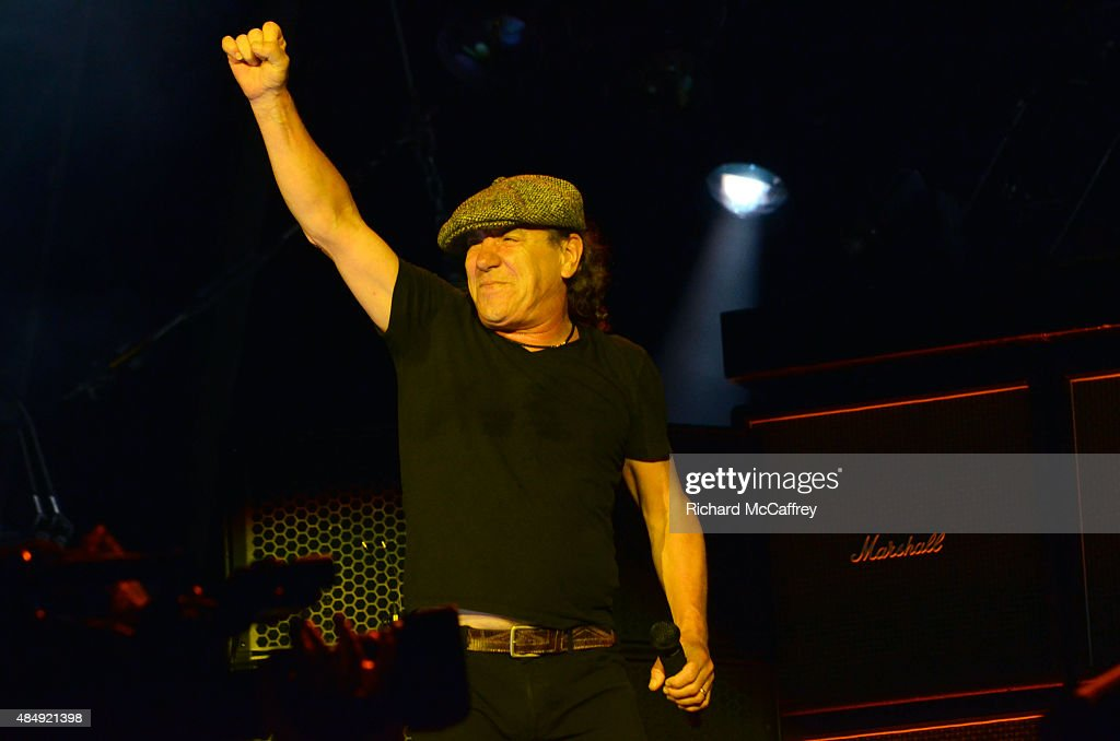 Brian Johnson of AC/DC performs at Gillette Stadium on August 22, 2015 in Foxboro, Massachusetts.