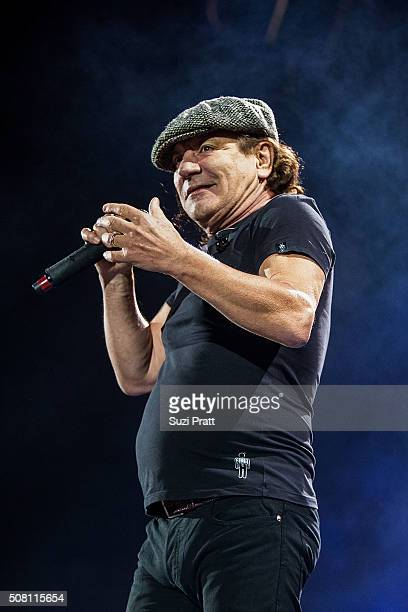 Brian Johnson of AC/DC performs at Tacoma Dome on February 2 2016 in Tacoma Washington