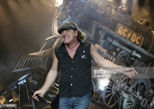 Brian Johnson of AC/DC performs live at Ahoy on March 13 2009 in Rotterdam Netherlands