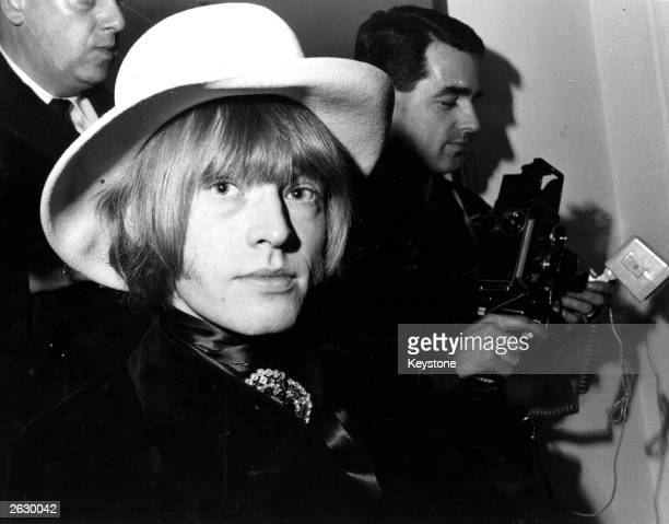 Brian Jones a founder member of the British rock group The Rolling Stones